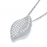 "J-Jaz Micro Pave' Fancy Pendant Cz with 18"" Chain #2"